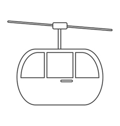 sky cable car transport mountain thin line vector image vector image