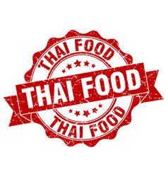 Thai food stamp sign seal vector