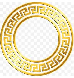 Traditional vintage gold greek ornament meander vector