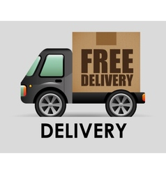 transport vehicle vector image