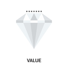 value icon concept vector image vector image