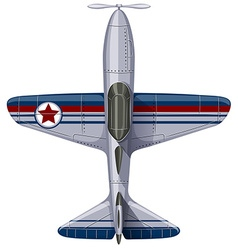 Vintage design of jet plane vector