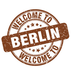 welcome to berlin vector image vector image