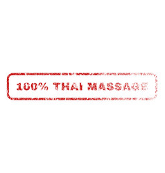 100 percent thai massage rubber stamp vector