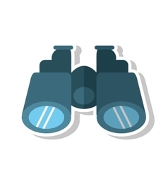 Isolated binocular object design vector