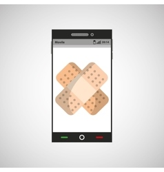 Smartphone application health aid vector