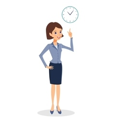 Business woman time management concept vector
