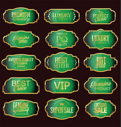 Set of luxury sales quality labels vector
