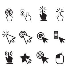 Click icon set vector