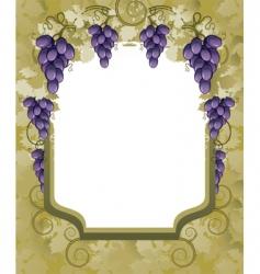vineyard border vector image