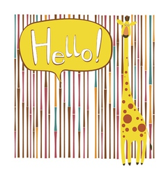 Custom card design with giraffe character vector