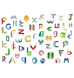Full alphabet letters set vector
