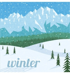 Winter landscape tourism background vector
