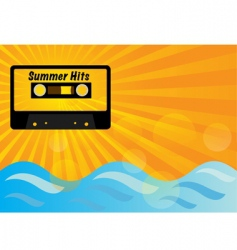 summer party background vector image