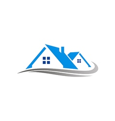 House Realty Cottage Construction Logo Royalty Free Vector