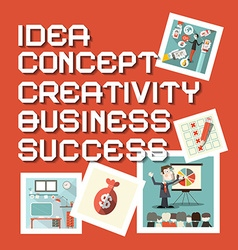 Idea business creativity concept success titles vector