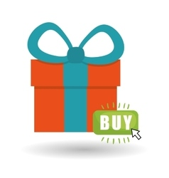 Buy online over white background gift design vector
