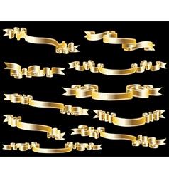 golden ribbon vector image