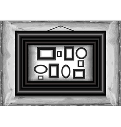 Abstract background with frames vector