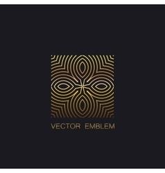 art-deco golden emblem vector image vector image
