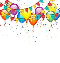 Birthday garlands and balloons vector