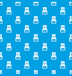 diamond in box pattern seamless blue vector image