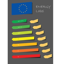 Energy label vector image