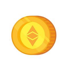Ethereum sign cryptocurrency with huge vector