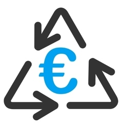 Euro Recycling Flat Icon vector image vector image