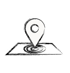 Figure map symbol to delivery services vector