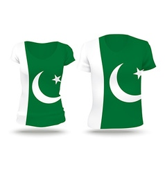 Flag shirt design of pakistan vector