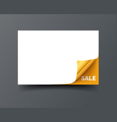 gift card template with curl corner vector image vector image