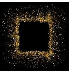 Gold circle frame vector