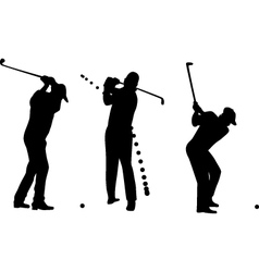 golf player silhouette vector image vector image