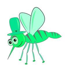 Green mosquito vector