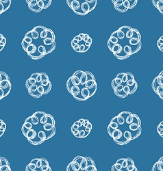 Hand drawn brush scribble flowers seamless pattern vector image vector image