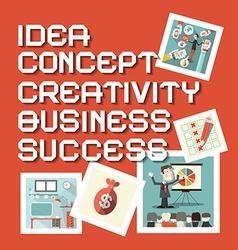 Idea Business Creativity Concept Success Titles vector image