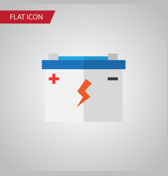 Isolated battery flat icon accumulator vector
