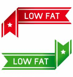 low fat food label vector image vector image