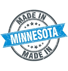 Made in minnesota blue round vintage stamp vector