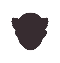 Man head silhouette icon Avatar male design vector image vector image