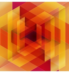 Moebius origami red and orange paper triangle vector image vector image