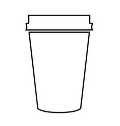 Paper coffee cup black color icon vector