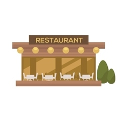 Restaurant in flat design vector