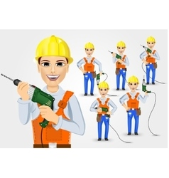 set of technical electrician or mechanic vector image