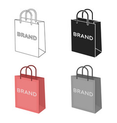 shopping bag icon in cartoon style isolated on vector image