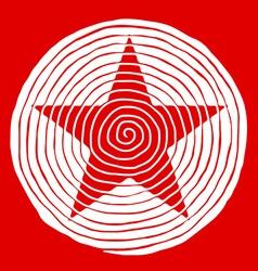 Spiral star vector