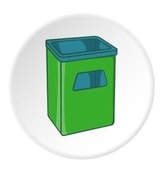 Street dustbin icon cartoon style vector