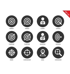 Target icons on white background vector image vector image