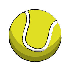 tennis sport ball image vector image